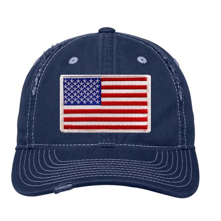 Distressed Baseball Cap Women Disressed Hats for Men Embroidered American Flag