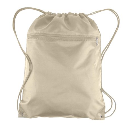 Wholesale Backpack (Wholesale Drawstring Bags Polyester Backpacks with Front Zipper Pocket | BPK10 - Set of 6,)