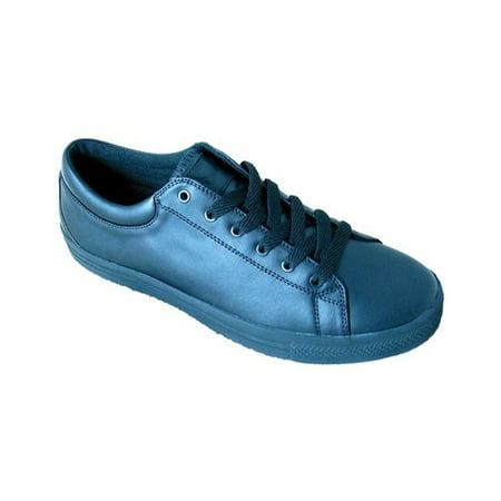 Men's Genuine Grip Footwear Slip-Resistant Retro Lace-up Work Shoes