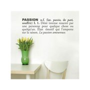 Passion (French) Wall Decal - Charcoal