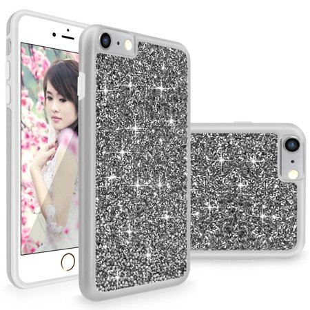 Chase Rocks - iPhone 6 / 6S Case, Cellularvilla [Slim Fit] Luxury Bling Jewel Rock Crystal Rhinestone Diamond Case [Shockproof] Dual Layer Protective Cover for Apple iPhone 6 / iphone 6S 4.7 inch (Grey Silver)