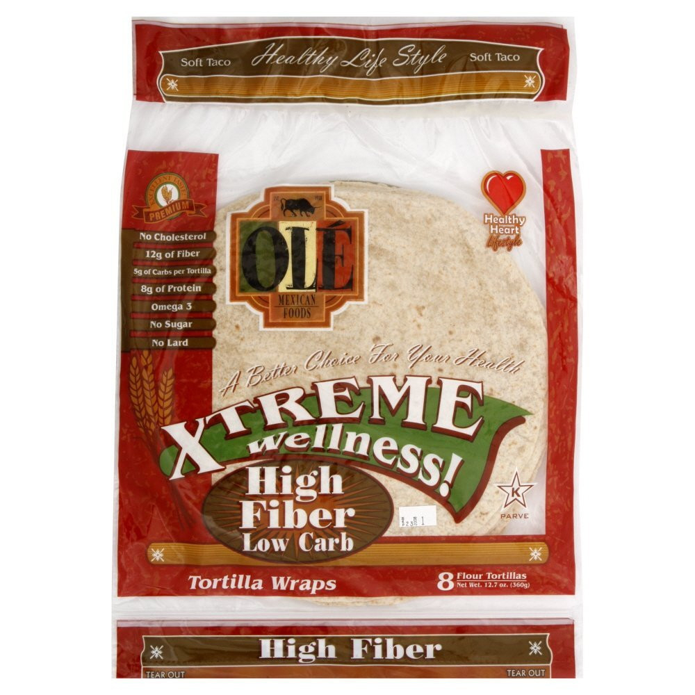 """OLE Mexican Foods Xtreme Wellness! High Fiber Low Carb 8"""" Tortillas, 8 ct"""