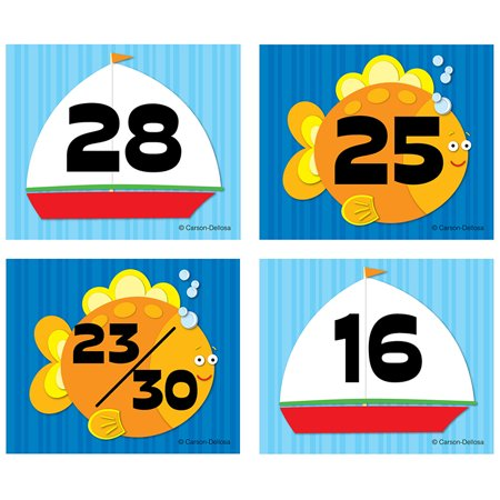 Carson Dellosa Calendar Cover Ups, 36 Pieces - Sailboat Fish](Sailboat Supplies)
