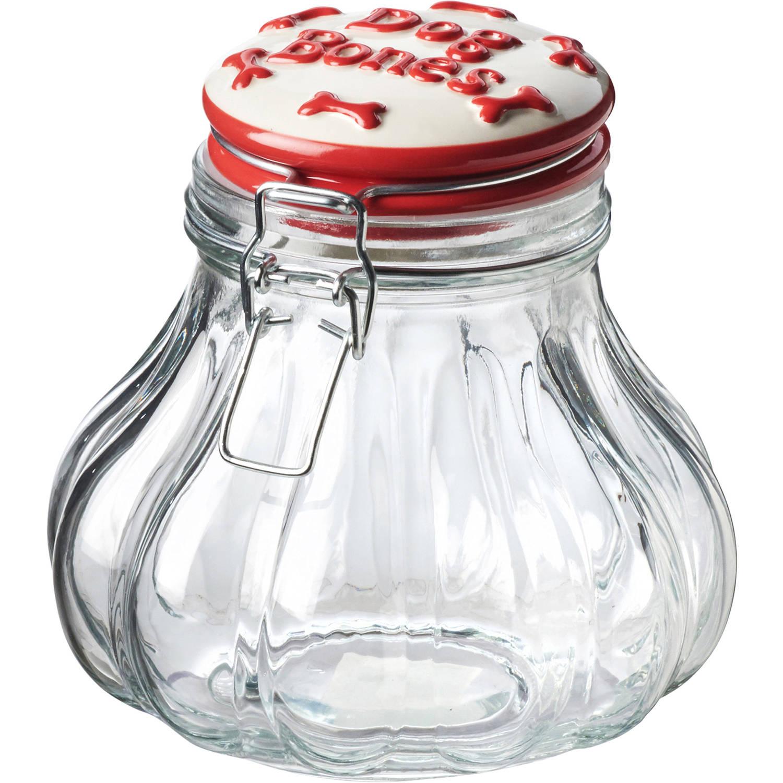 Pet Bones Hermetic Preserving Jar, 52 oz, Red