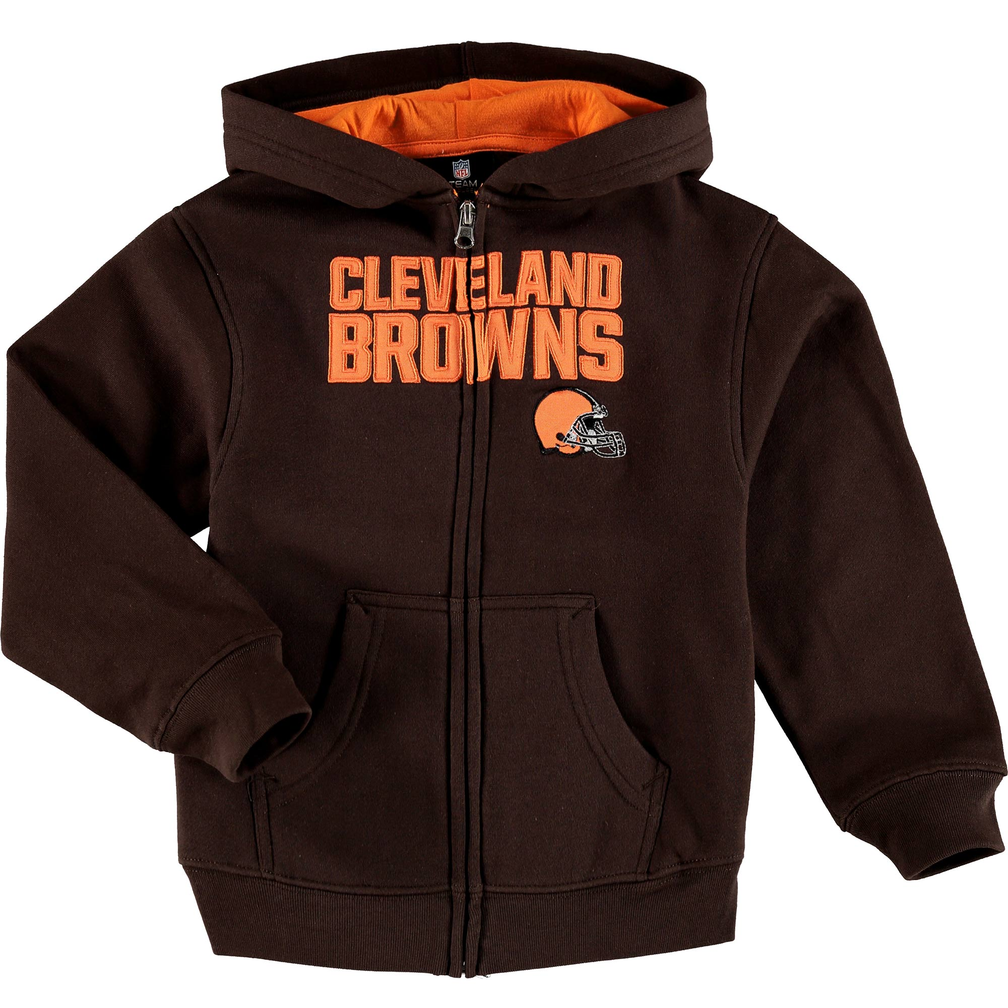 Cleveland Browns Toddler Fan Gear Stated Full Zip Hoodie - Brown - 7