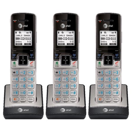 AT&T TL90073 Extra Handset / Charger 3 Pack Full Duplex Handset (Best At&t Bluetooth Devices For Cell Phones)