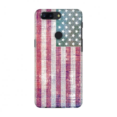 newest collection cb746 f9142 OnePlus 5T Case - USA flag- Wood texture, Hard Plastic Back Cover, Slim  Profile Cute Printed Designer Snap on Case with Screen Cleaning Kit
