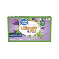 Great Value Ultimate Fresh Blooming Lavender Dryer Sheets, 105 count