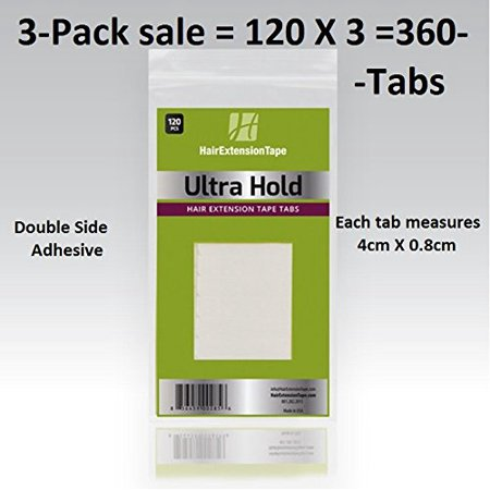 - Ultra Hold Extension Tape Tabs 3 packs = 360 tabs, Sold by Pervana Corporation. Licensed by State of Calif. Board cosmetology By Walker