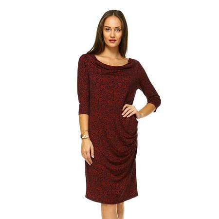 Marcelle Margaux Cowl Neck Drape Dress With Floral Patterns Gorgeous Walmart Dress Patterns