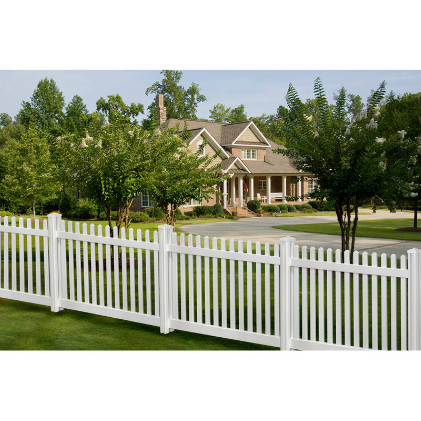 Wam Bam Premium Classic Picket Vinyl Fence with Post and Cap 4 ft. by WamBam Fence Inc