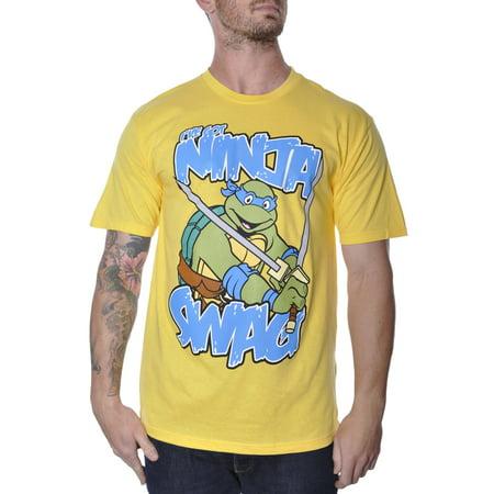 TEENAGE NINJA TURTLES SWAG T-SHIRT MENS TMNT YELLOW LARGE (Tmnt Onesie For Men)