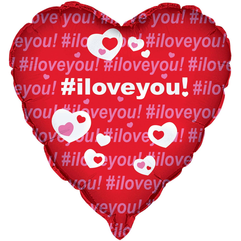 "18"" Foil #I Love You Heart Balloon"
