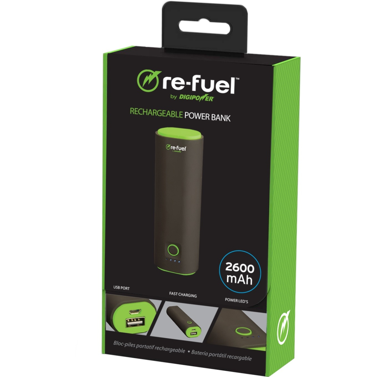 DigiPower 3-re-fuel RF-A78 Rechargeable Power Bank 7800mAh - For USB Device