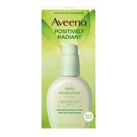 Aveeno Positively Radiant Facial Moisturizer with Total Soy Complex, Sun Protection, SPF 15 4 fl oz