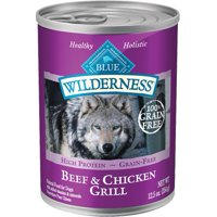 Blue Buffalo Wilderness Grain Free Beef & Chicken Grill Adult Canned Wet Dog Food, 12.5 Oz.