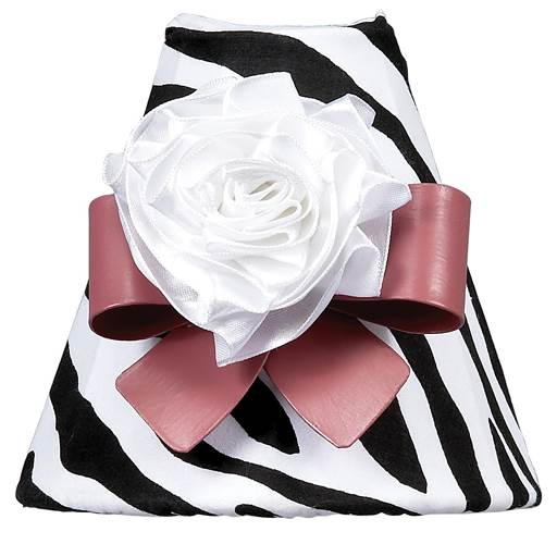 Zebra Print Nightlight with Bow Magnet