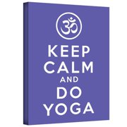 ArtWall Keep Calm And Do Yoga by Art D Signer Kcco Textual Art on Wrapped Canvas