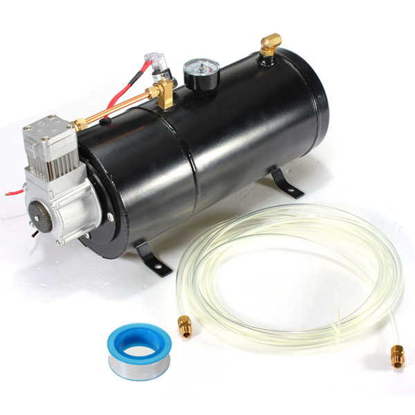 MATCC 12V DC 120 PSI Car Air Compressor Tank Pump w/ Hose...