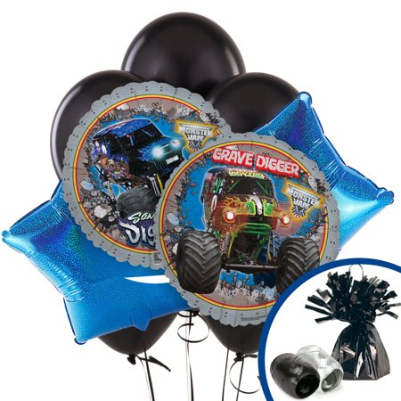 // Monster Jam 3D Balloon Bouquet// (Monster Jam Birthday Party Supplies)
