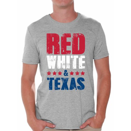 Awkward Styles Red White & Texas Shirt for Men American Men USA Flag Shirts Texas Tshirt 4th of July Shirts for Men Patriots Tshirt Gifts from Texas USA Shirts for Men America Men's Shirt July 4th