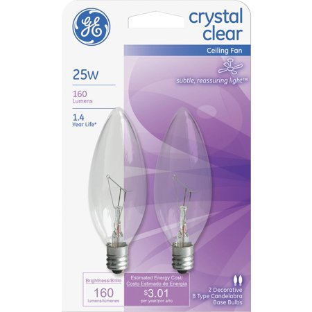 Ge b type ceiling fan light bulb walmart ge b type ceiling fan light bulb aloadofball Choice Image