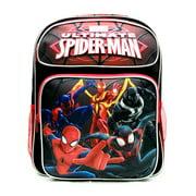 "Medium Backpack - Marvel - Spiderman Group Black 14"" School Bag New US28265"