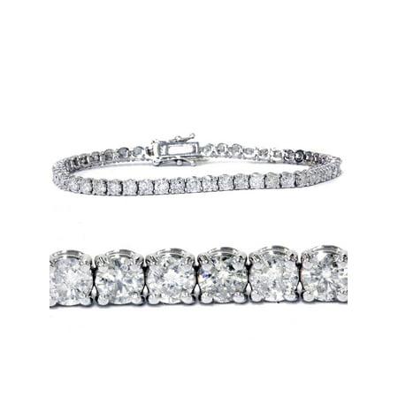7ct Diamond Tennis Bracelet 14K White Gold 7