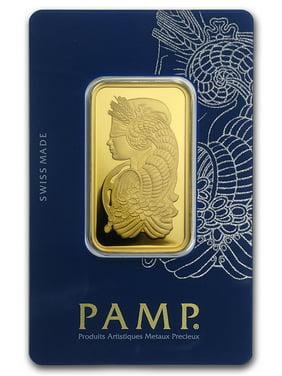 1 oz Gold Bar - Lady Fortuna Veriscan In Assay