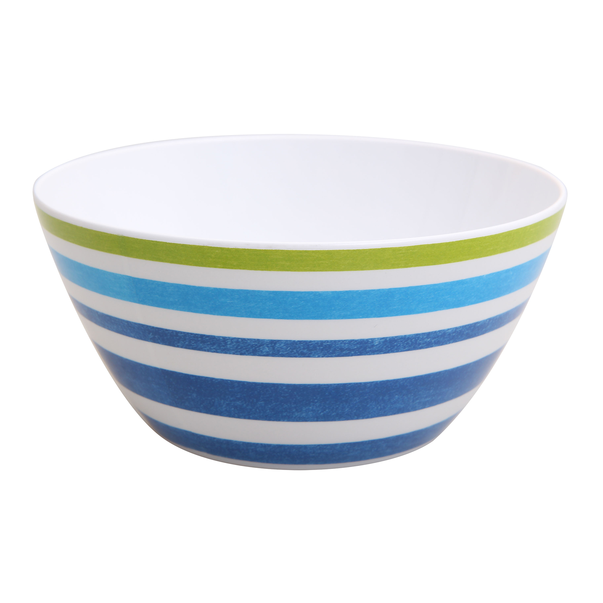 Mainstays Melamine 6-Pack Bowl Set, Blue Striped