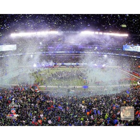 Metlife Stadium After The Seattle Seahawks Win Super Bowl Xlviii Photo Print