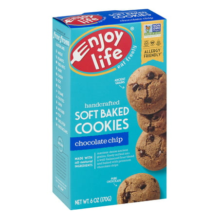 (2 Pack) Enjoy Life Gluten Free, Allergy Friendly Soft Baked Cookies Chocolate Chip, 6.0 OZ](Halloween Spider Chocolate Chip Cookies)