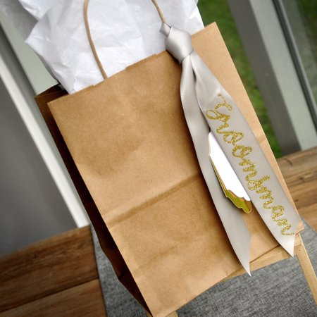 Gift Bags for Groomsmen (Qty. 1). Kraft Bags with Handle. Groomsman Gift Ideas. Groomsman Gift Ideas. Br8KFT. - Gift Bags Ideas
