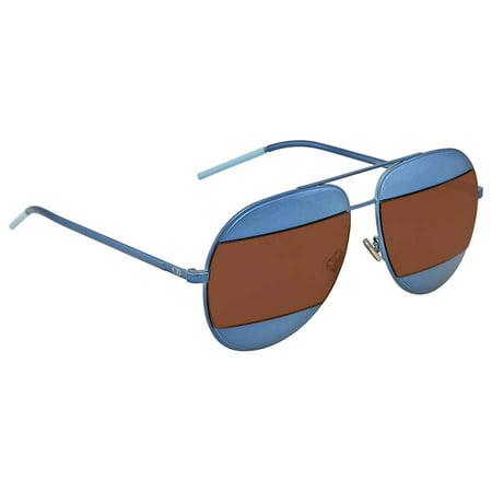Dior Blue, Brown Mirror Aviator Sunglasses DIOR SPLIT 1/S (Dior Chicago Aviator Sunglasses)