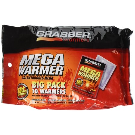MWES10 Mega 12 Hour Warmer (10 Pack), 12+ hours of heat By GRABBER WARMERS