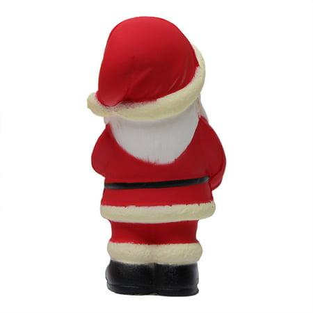 Squishy Slow Rebound Christmas Element Black Leather Shoe Santa Claus Simulation Decompression