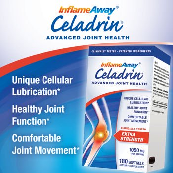 Celadrin Advanced Joint Health 1050 Mg, 180 Softgels Fast, Long Lasting Joint Comfort