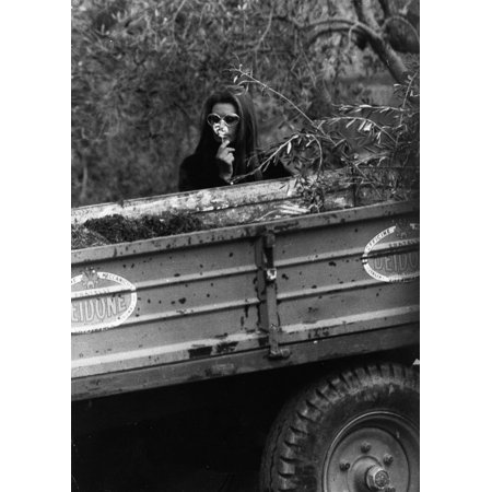 Film still of Sophia Loren by a trailer Photo Print (Halloween Fan Film Trailer)