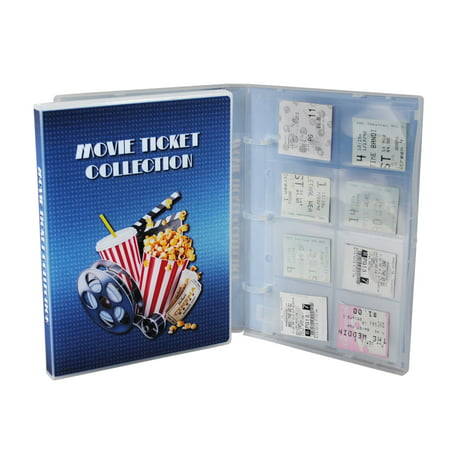 Movie Ticket Collection Album, 10 Ticket Pages Included, Holds 160 Ticket Stubs (Ticket Stub Album)