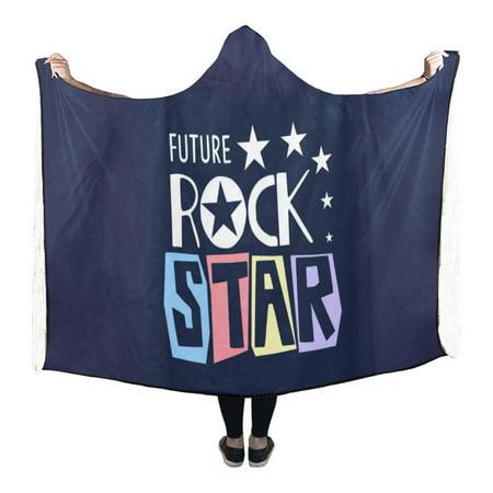 HATIART future rock star Hooded Blanket 56x80 inch Adults Girls Boys Blankets with Hood - image 3 de 3