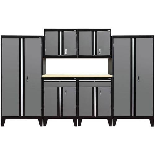 """Sandusky 7-Piece Modular Garage Welded Storage System, 79""""H x 18""""D x 144""""W"""