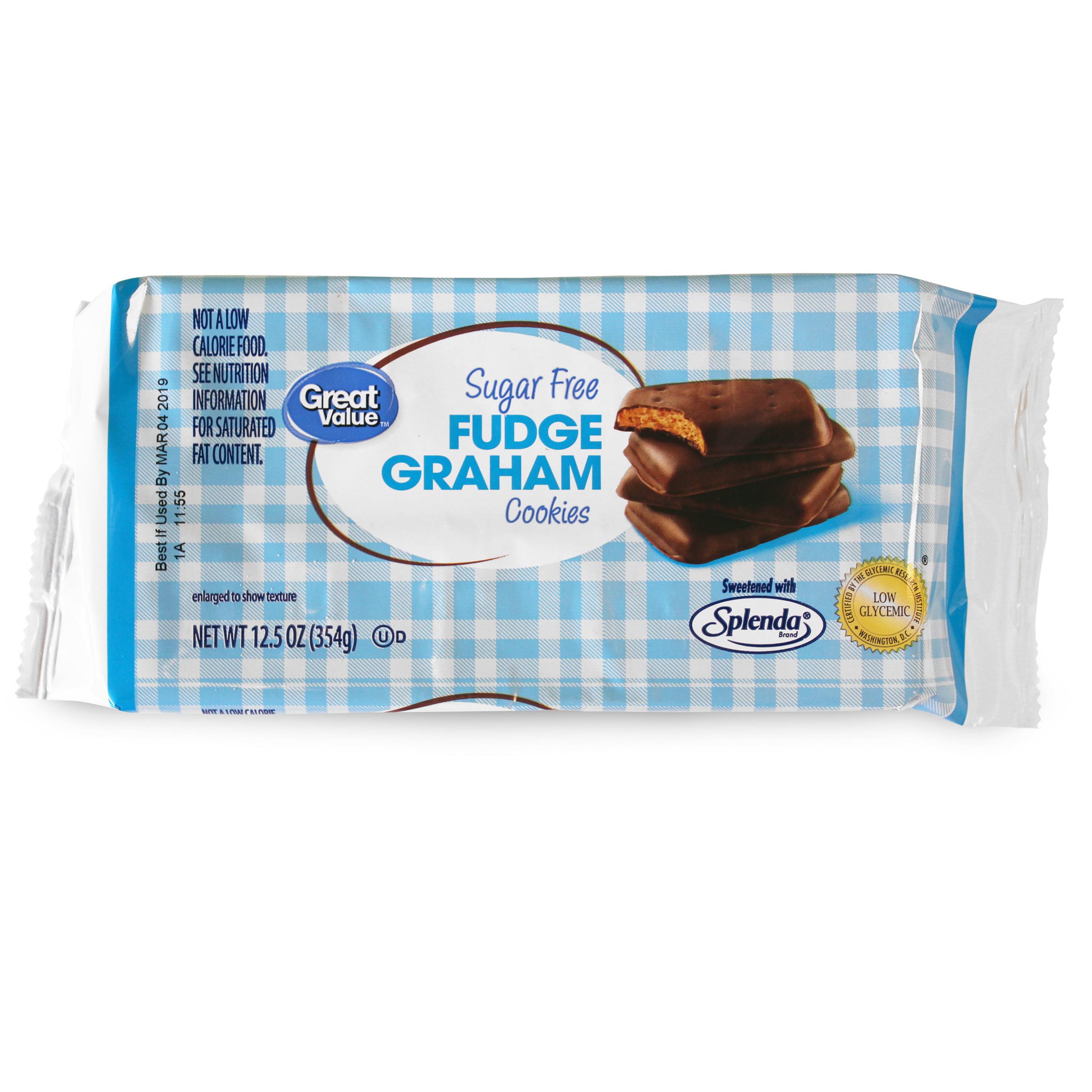 Great Value Fudge Graham Cookies, Sugar Free, 12.5 oz