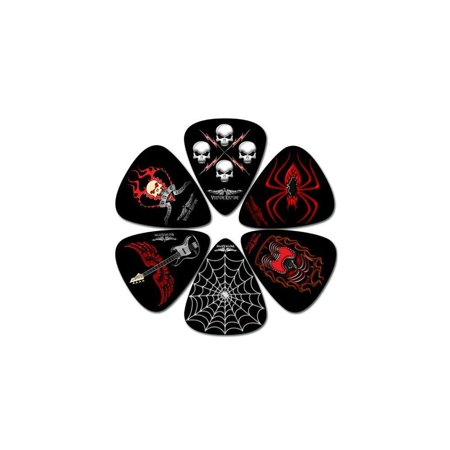 Leather Package - perris leathers lp-vk2 medium celluloid plastic, 6-pieces per package guitar picks
