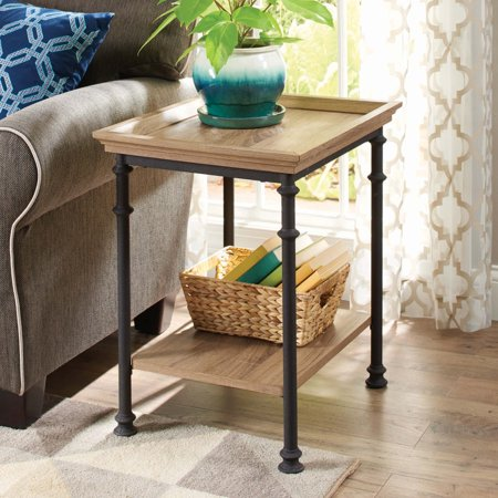 Better Homes & Gardens River Crest Side Table, Rustic Oak Finish