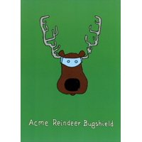 Curiosities Greeting Cards Reindeer Bugshield Funny / Humorous Christmas Card