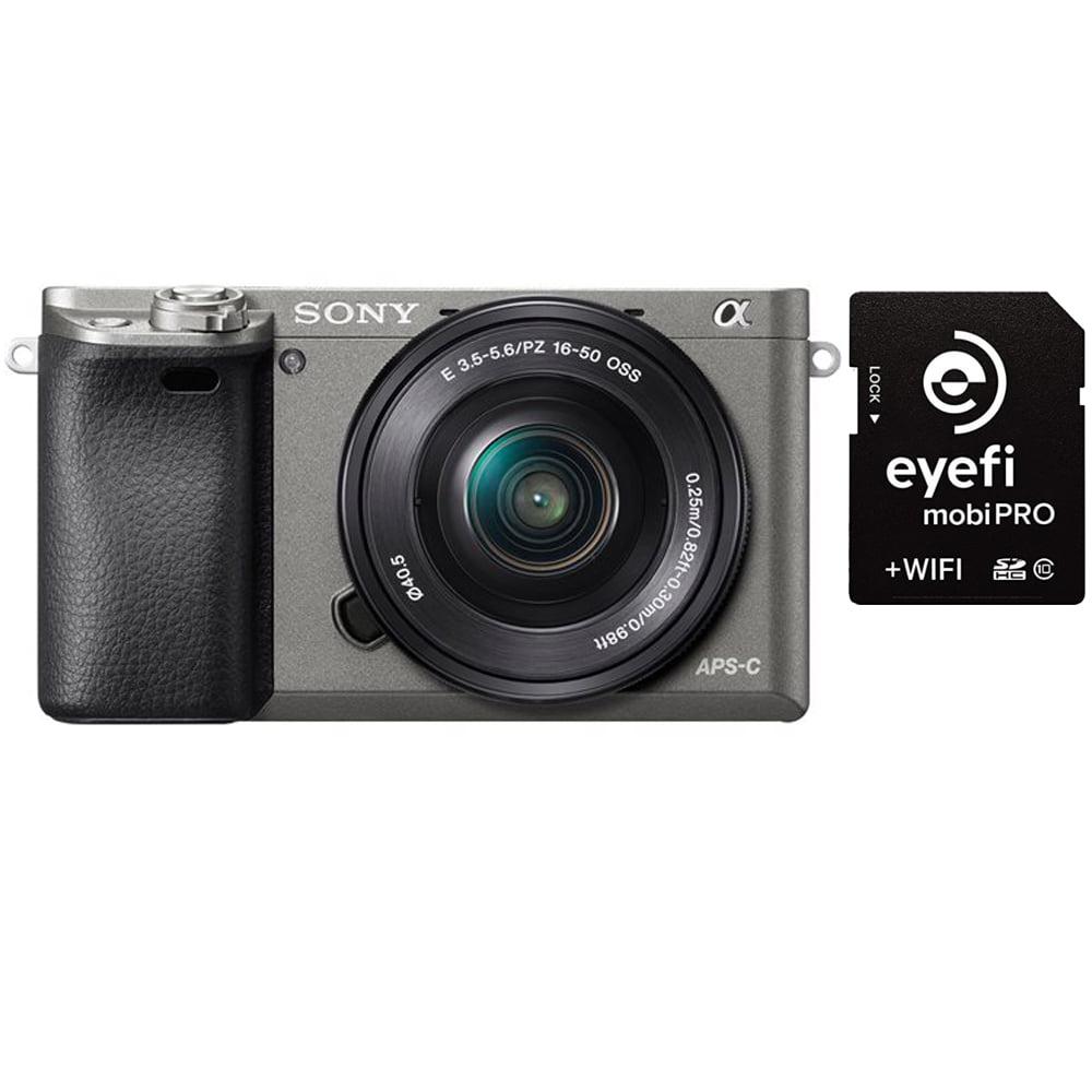 Sony Alpha a6000 Mirrorless Camera w/ 16-50mm Lens & EyeFi MobiPro 32GB Card