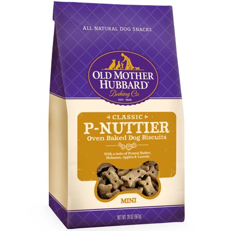 Old Mother Hubbard Classic P-Nuttier Mini Peanut Butter Dog Treats, 20 (Old Mother Hubbard Training Treats)