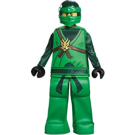 Boys' Lego Ninjago Lloyd Prestige Costume - Green Ninjago Halloween Costumes