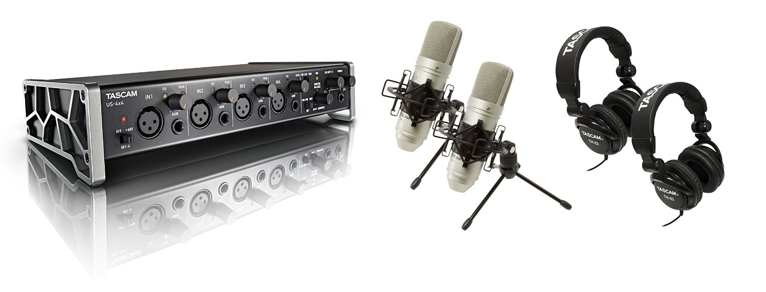 TASCAM 4x4 Trackpack Complete Recording Studio for Mac Windows Computers by Tascam