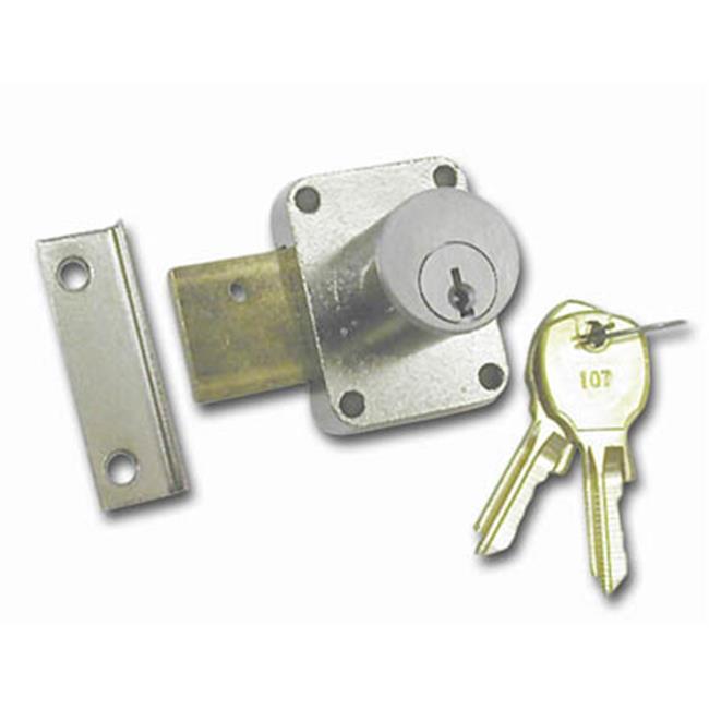 National Lock N8173 26D 107 . 88 inch Cylinder Pin Tumbler Locks With Key 107 - Dull Chrome